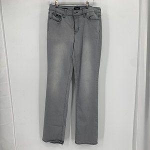 NYDJ Marilyn Straight Leg Gray High Rise Jeans 10
